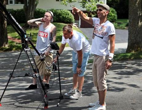 Clinton Sparks (right) made a video this past July with Patrick Burns (center) and Millyz.